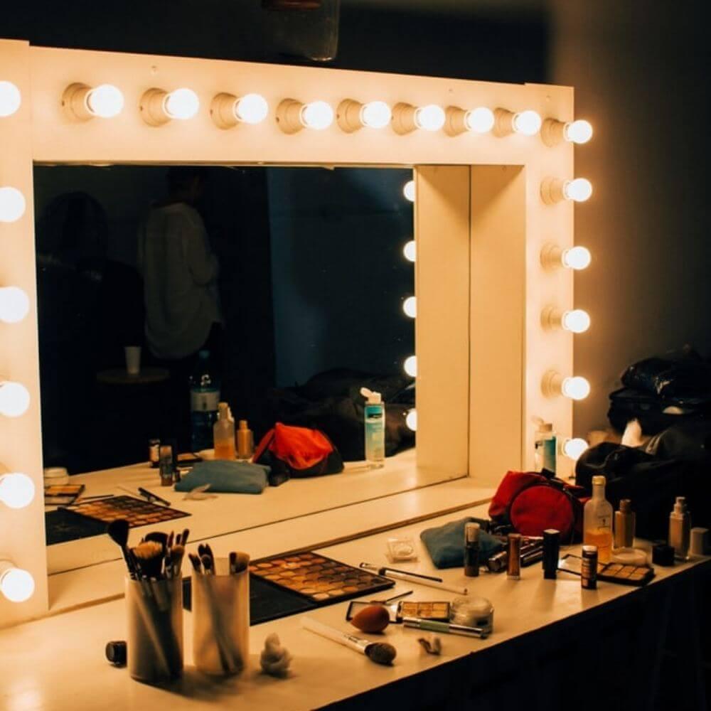 Hollywood spejl og makeup