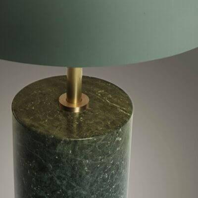 Grøn moderne bordlampe