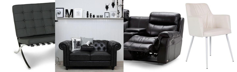 Stort udvalg af kunstlæder møbler