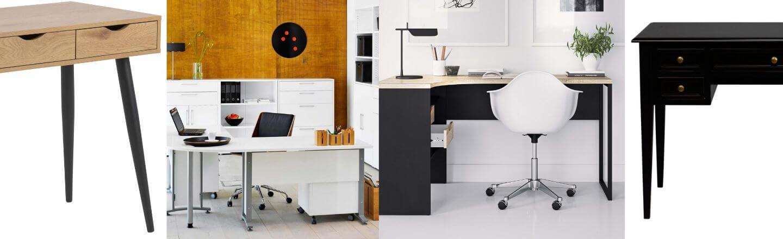 Skriveborde til kontoret