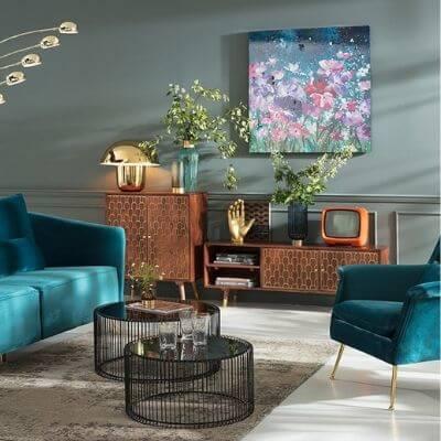 Indretning med vintage møbler