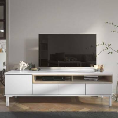 Hvidt tv bord nordisk design
