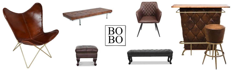 Udvalg af læder møbler