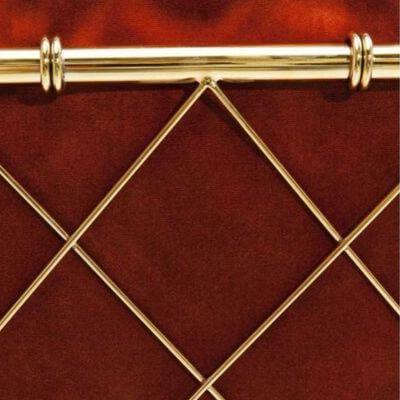 Græskar rødt møbel med guld ryg