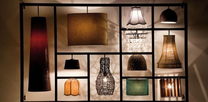 Fede lamper som vægophængt pynt