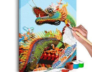 Flot DIY maleri af drage