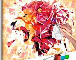 Flot DIY maleri af løve