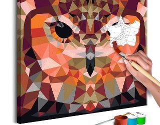 Flot DIY maleri af ugle