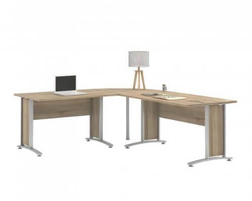 hjørneskrivebord, hjørneskriveborde, skrivebord, skriveborde, kontor, boboonline
