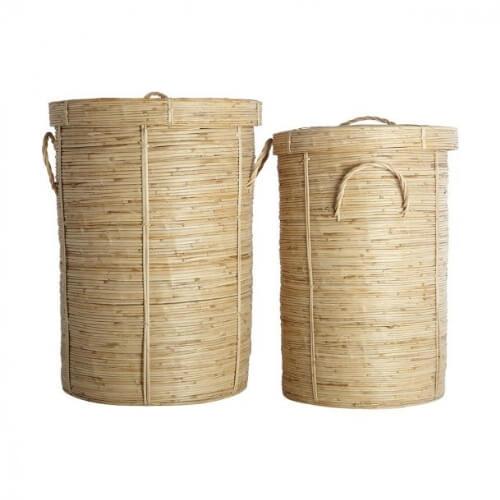 vasketøjskurv, bambuskurv, bambus vasketøjskurv, snavsetøjskurv, kurve, vaskekurve, boboonline