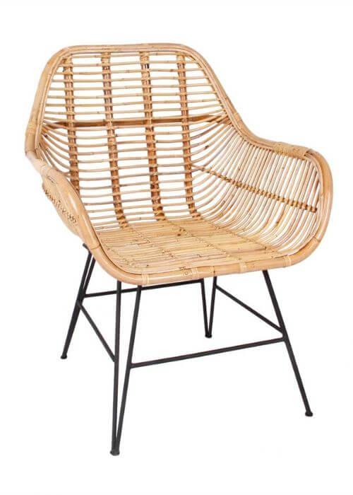 Flot og moderne stol i rattan fra House of Sander