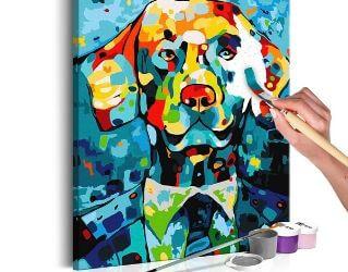 Flot DIY maleri af hund