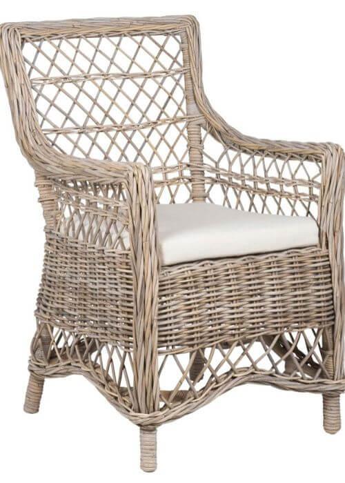 Elegant stol fra Ib Laursen med armlæn