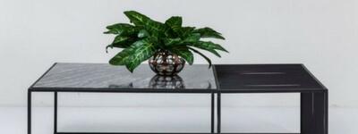 marmor sofabord sort