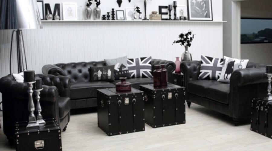 Flot sofa i læder