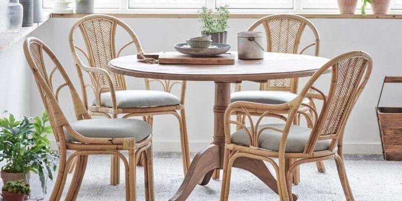 Sika Design rundt spisebord i teak Ø120