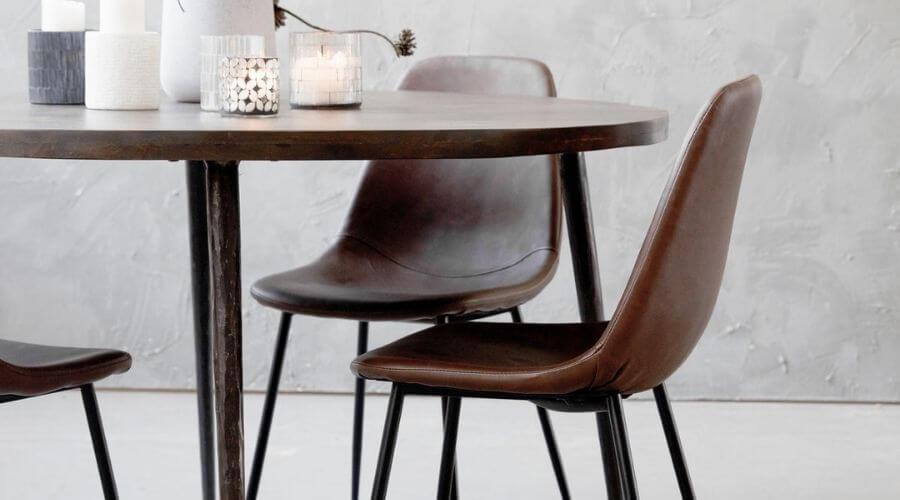 Flot spisebordsstol i læder