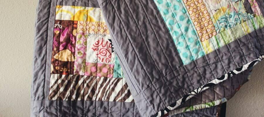 Flot patchwork tæppe