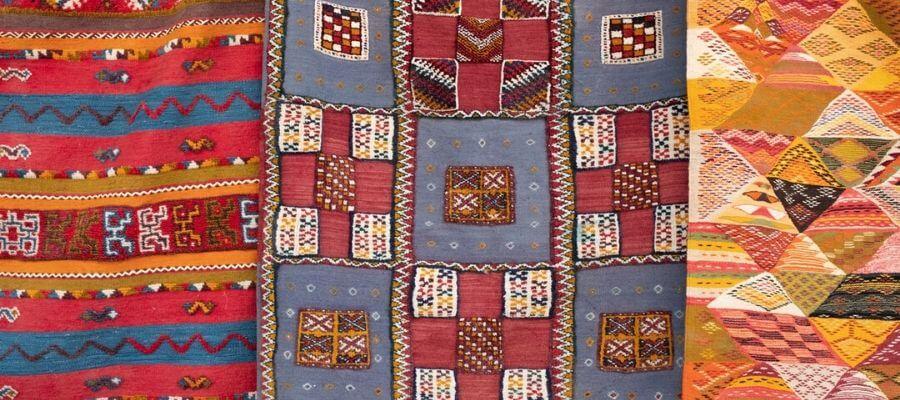 Patchwork tæppe med flot mønster