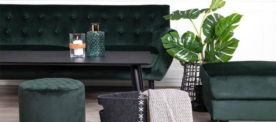 Grøn veloursofa fra House Nordic