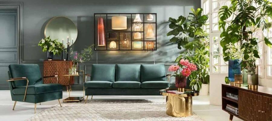 Stilren grøn veloursofa fra Kare Design