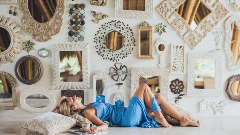 spejle, spejl, store spejle, lille spejl, små spejle, vægdekoration, vægbeklædning, vægudsmykning, boboonline