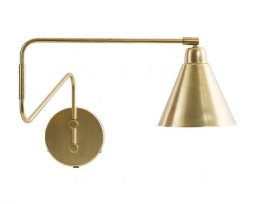væglampe, lampe, vægudsmykning, små lamper, store lamper, lille lampe, stor lampe, vægdekoration, dekoration, guld, boboonline
