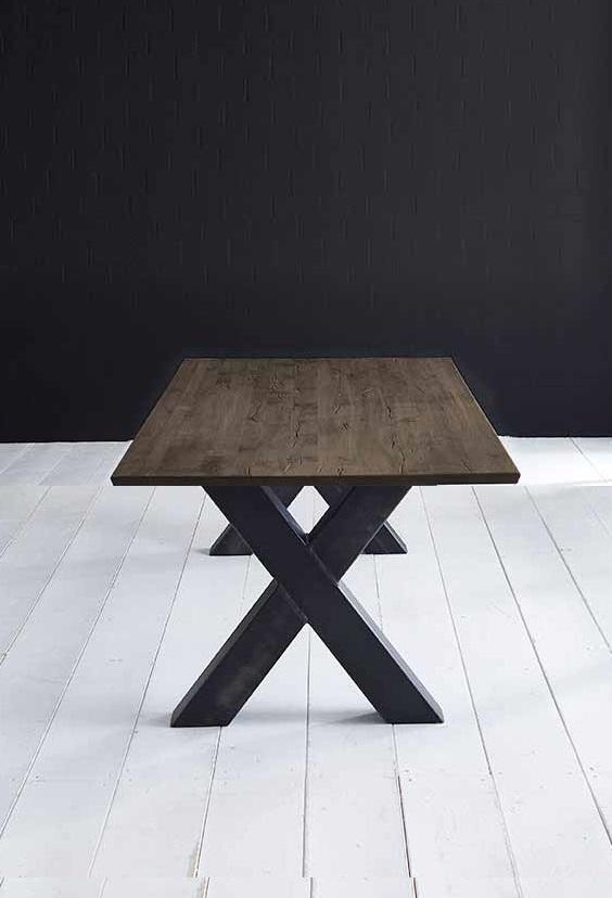 Concept 4 You plankebord - eg m. schweizerkant og Freja-ben, m. udtræk (180-260x100-110) 3 cm 260 x 100 cm 02 = smoked