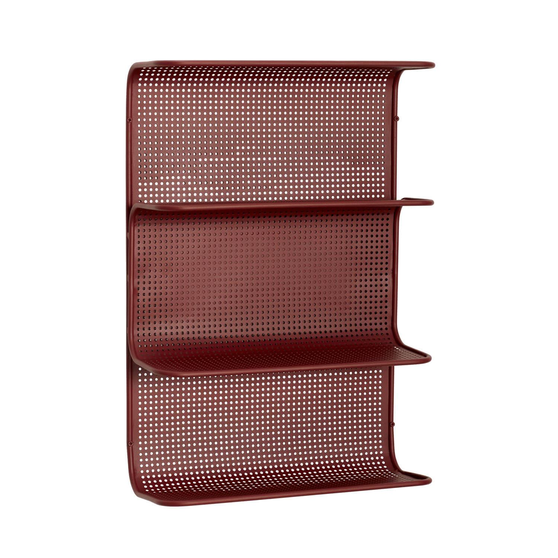 hübsch – H?bsch væghylde - rød metal, m. 4 hylder på boboonline.dk