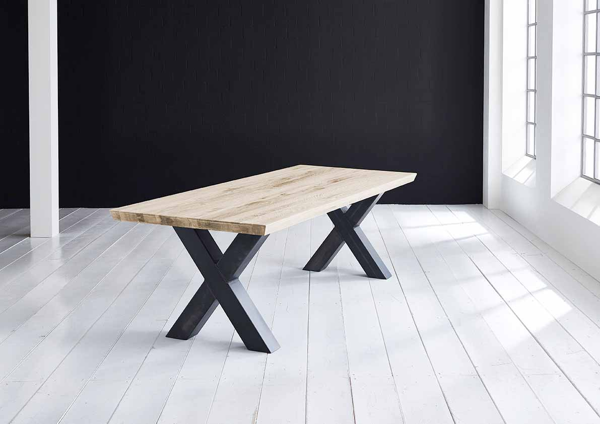 Concept 4 You plankebord - eg m. schweizerkant og Freja-ben, m. udtræk (180-260x100-110) 6 cm 280 x 100 cm 04 = desert