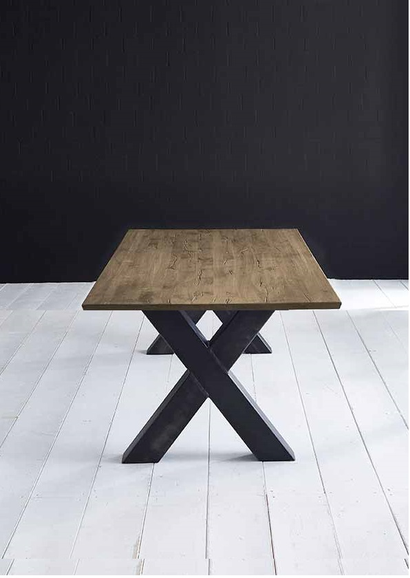 Concept 4 You plankebord - eg m. schweizerkant og Freja-ben, m. udtræk (180-260x100-110) 3 cm 200 x 100 cm 04 = desert