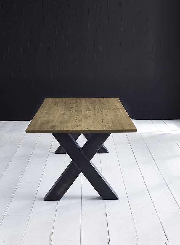 Concept 4 You plankebord - eg m. schweizerkant og Freja-ben, m. udtræk (180-260x100-110) 3 cm 180 x 100 cm 05 = sand