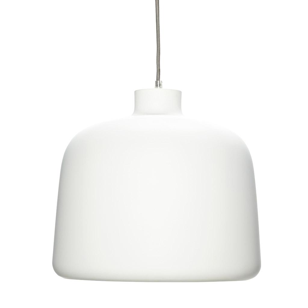 H?bsch hvid aluminium lampe fra hübsch fra boboonline.dk