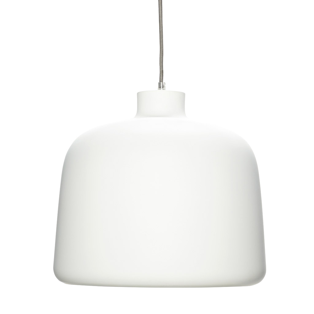 Billede af HÜBSCH Hvid aluminium lampe