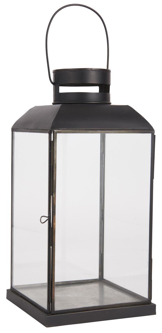 Billede af IB LAURSEN Christian lanterne - sort metal og glas