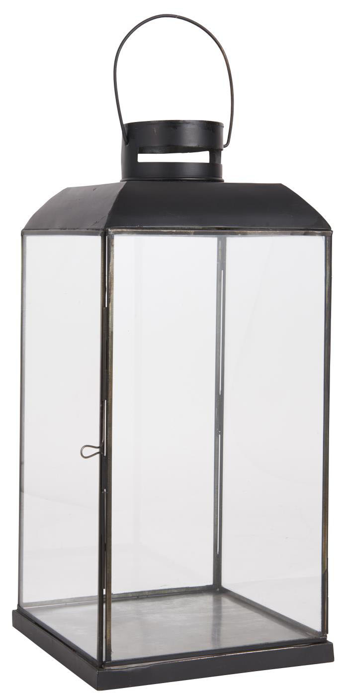 IB LAURSEN Christian lanterne - sort metal og glas