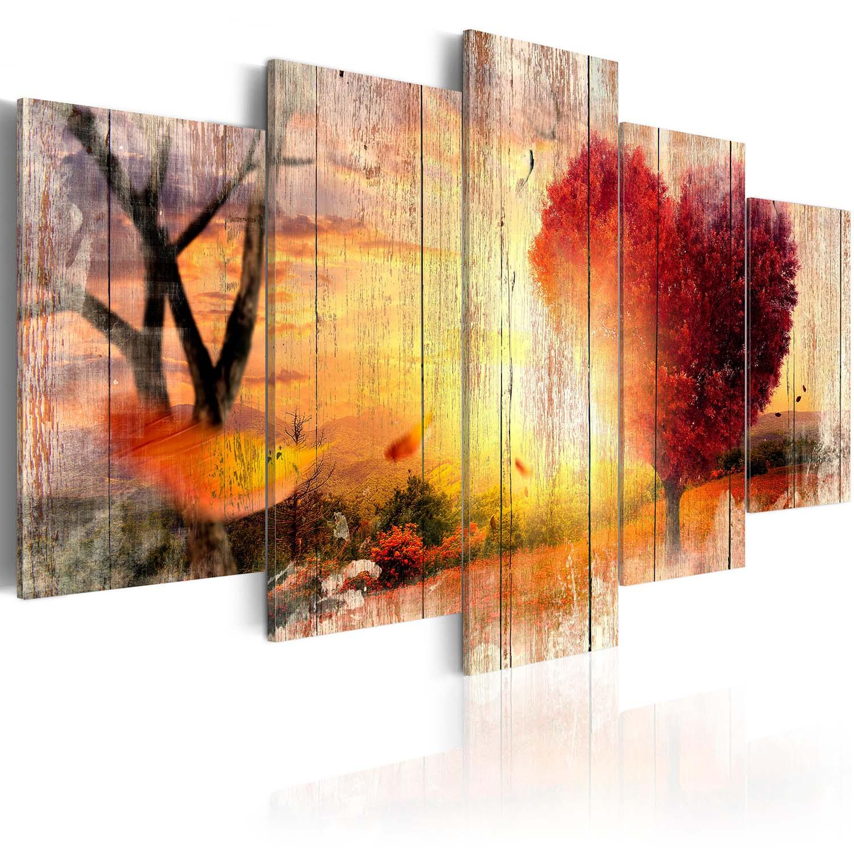 Image of Artgeist billede - Autumnal Love, på lærred, to størrelser 100x50