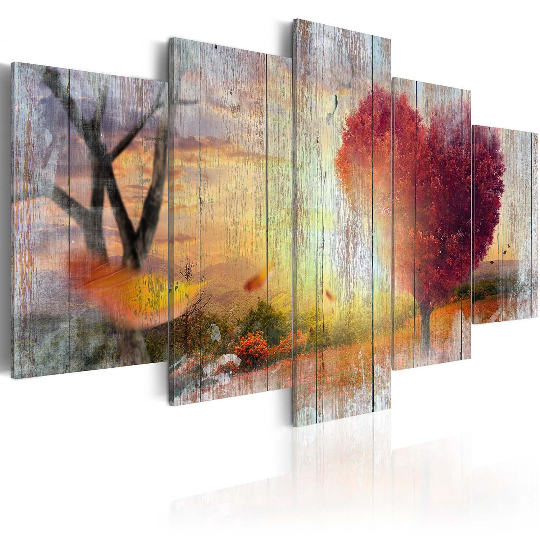 Image of ARTGEIST Billede af efterår - Lovers Autumn, på lærred (flere størrelser) 100x50
