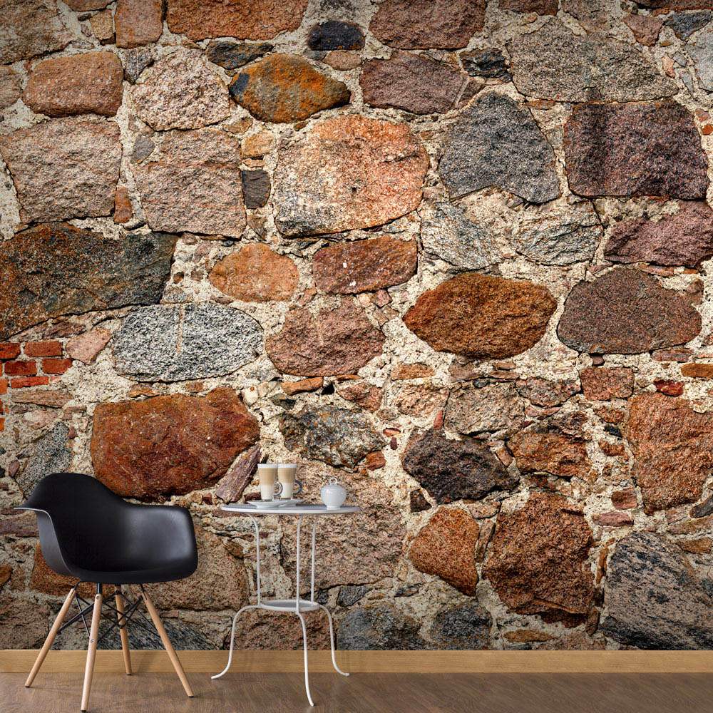 Artgeist fototapet - Stony Artistry, mursten print (280x500) 200x140 thumbnail