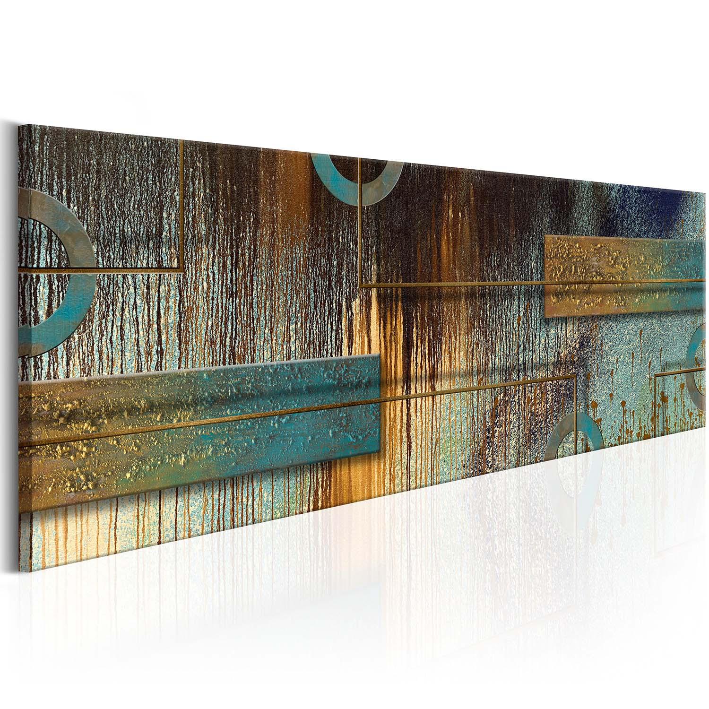 Image of Artgeist billede - Artistic Variation, på lærred 120x40