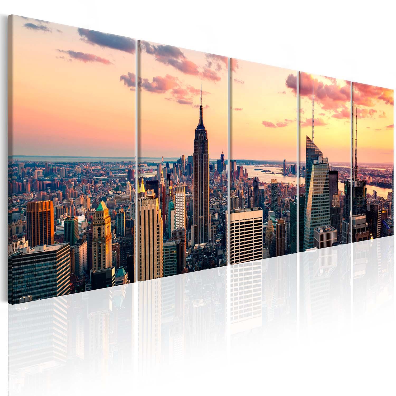 Image of Artgeist billede - Beautiful Sunset, på lærred 200x80