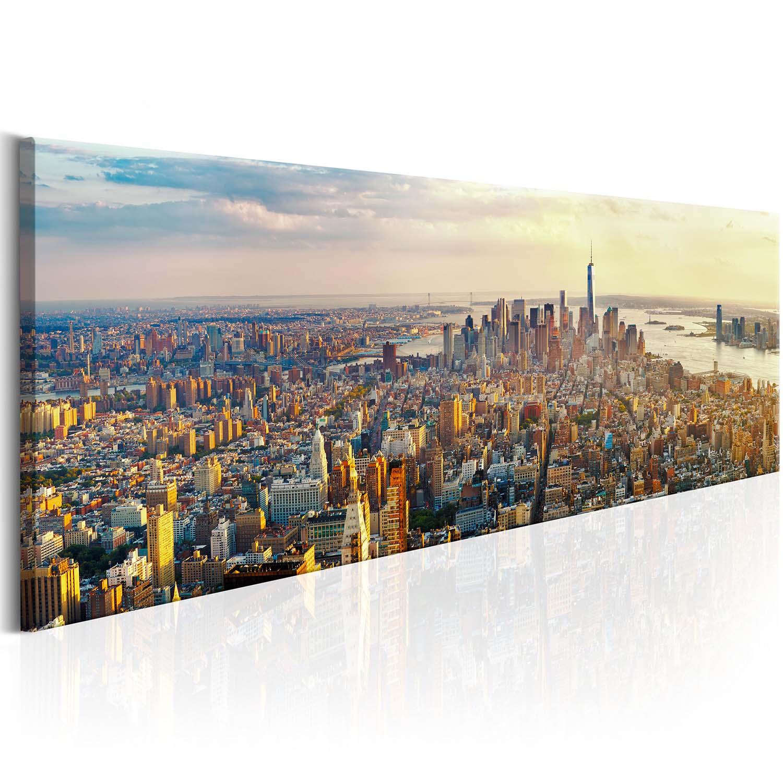 Image of Artgeist billede - American View, multifarvet, på lærred 120x40