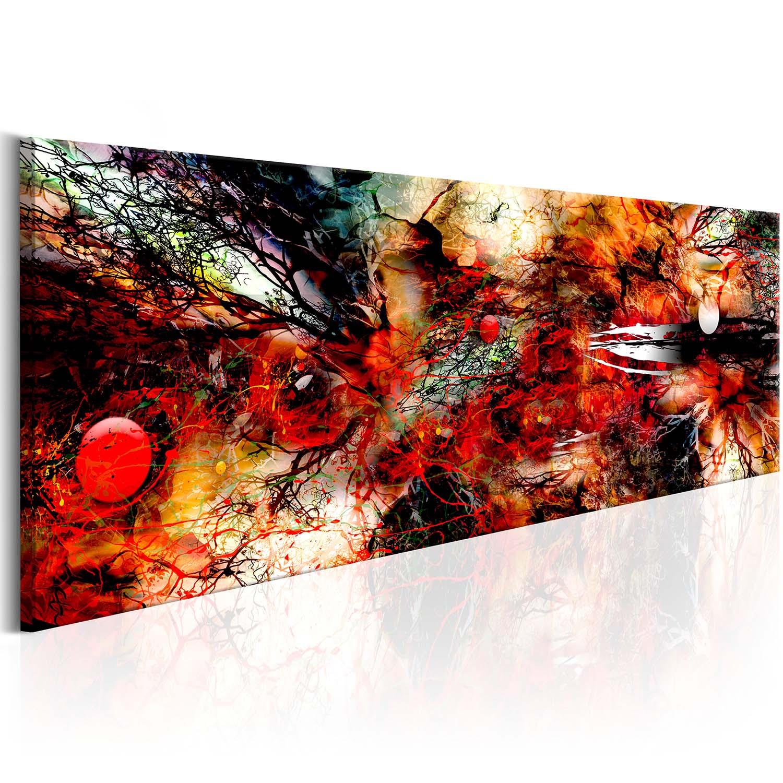 Image of Artgeist billede - Artistic Chaos, på lærred 135x45