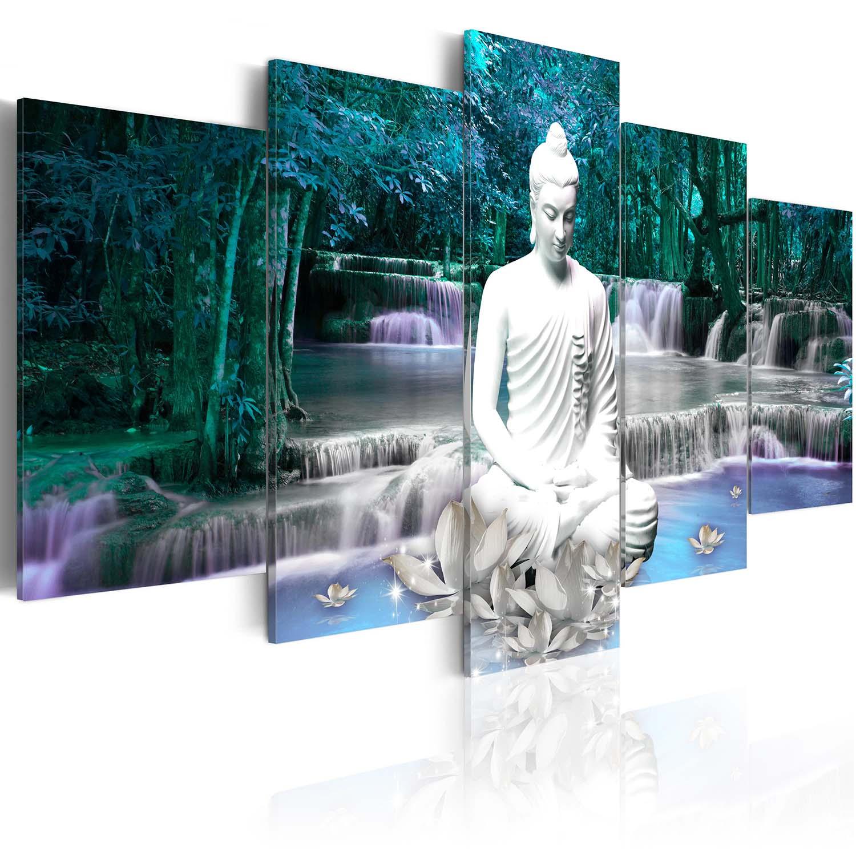 Image of Artgeist billede - Azure Prayer, på lærred, to størrelser 100x50