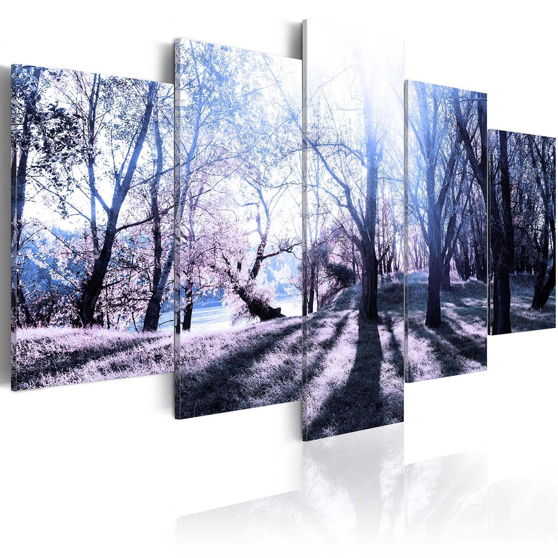 Image of Artgeist billede - Autumn glade, på lærred, to størrelser 100x50
