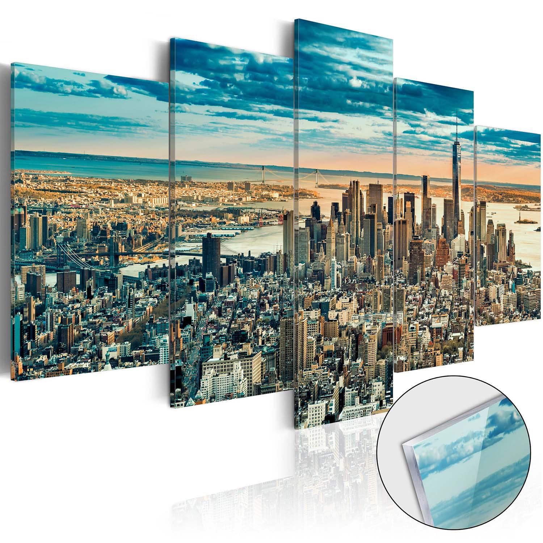 Artgeist billede - NY: Dream City, på plexiglas, to størrelser 200x100 thumbnail