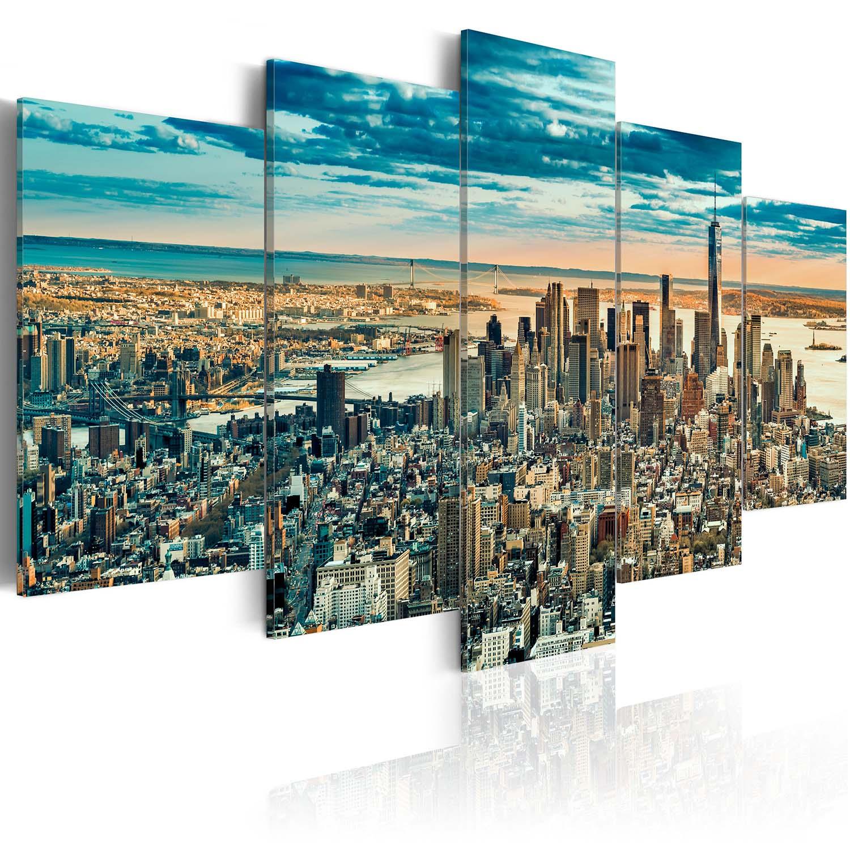 Artgeist billede af new york - ny: dream city, på lærred (flere størrelser) 200x100 fra artgeist fra boboonline.dk