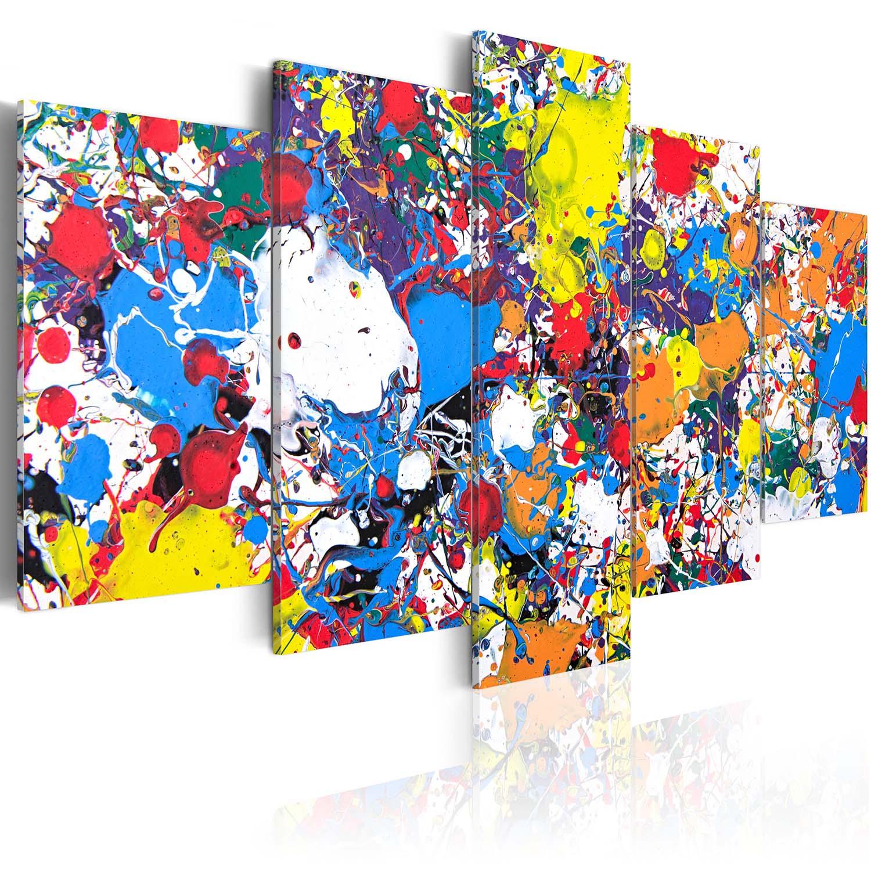 Image of Artgeist billede - Colourful Imagination, på lærred, to størrelser 100x50