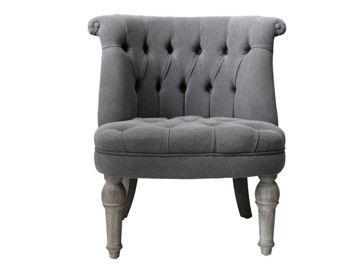 Chic antique fransk lænestol i hørstof fra chic antique på boboonline.dk
