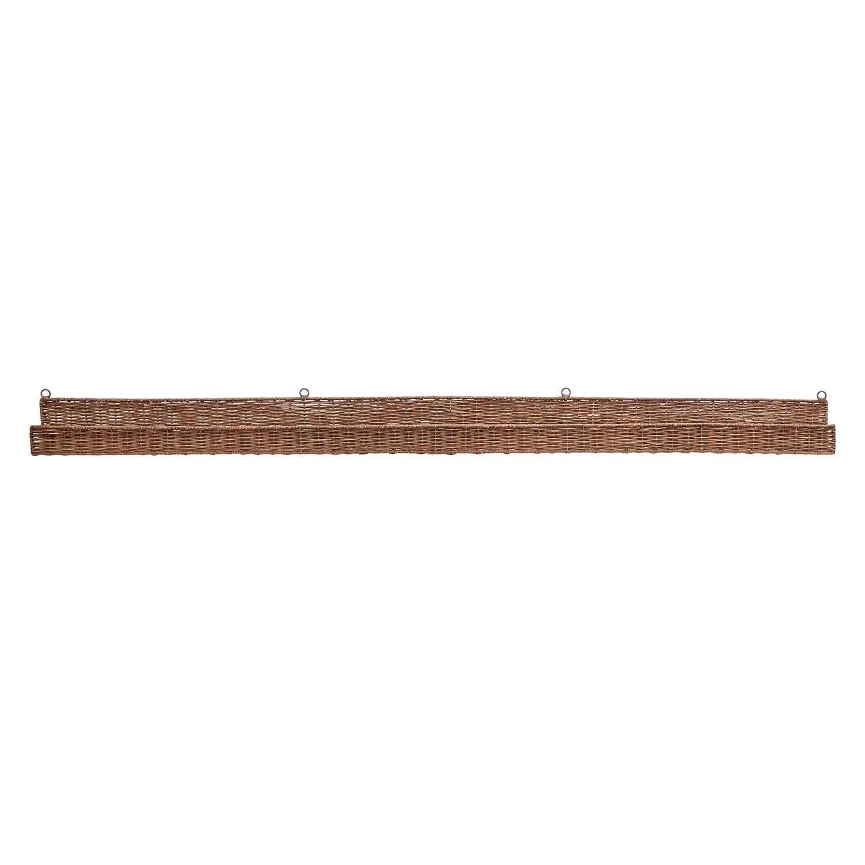 BLOOMINGVILLE Kenya væghylde - brun rattan, rektangulær (152x10) thumbnail